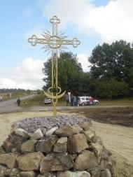 Установлен Поклонный Крест в селе Россыпное