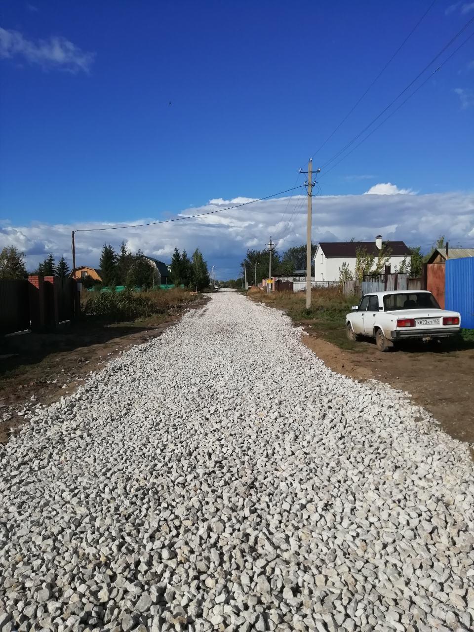В селе Преображенка  по улице Ново-Ленинская, завершается ремонт дорог местного значения