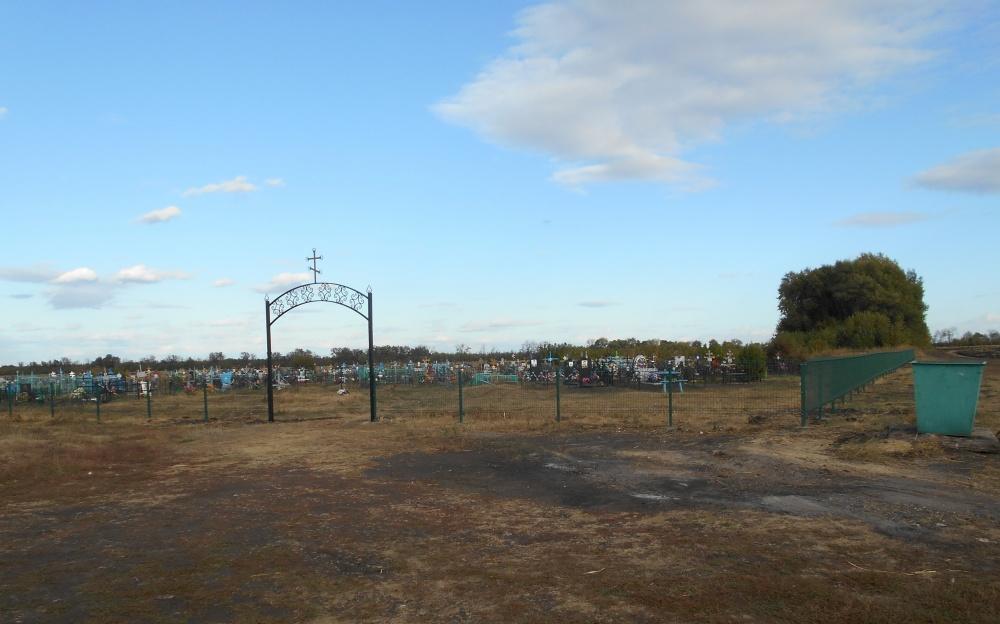 Ограждение кладбища в поселке Введенка