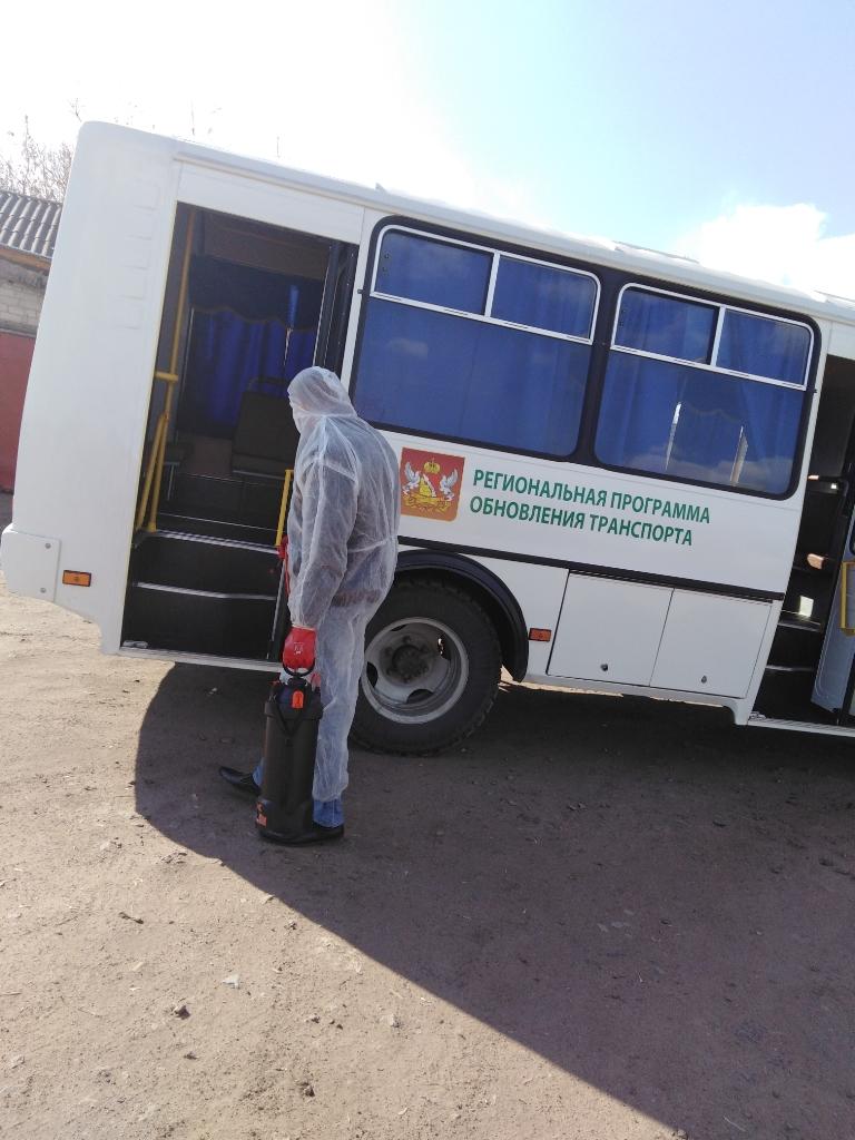 В МУП «Транссервис» проводят обработку автобусов