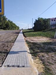 В селе Верхнее Турово построен тротуар.