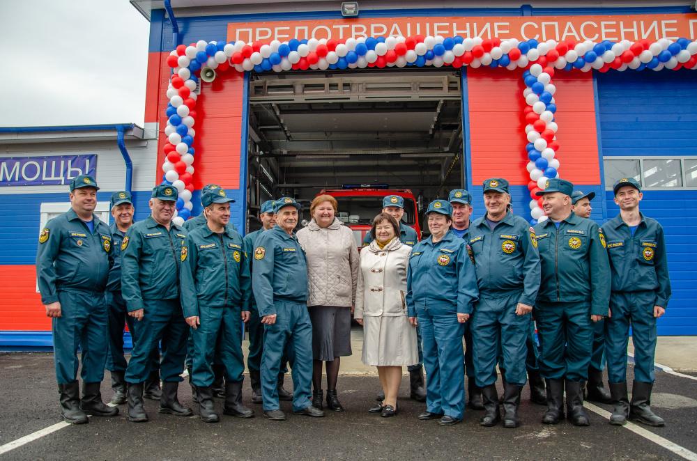 Торжественное открытие нового пожарного депо в поселке Мятлево