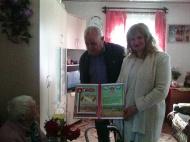 Поздравление с Днем пожилых людей, жителя с.Журавка, которая отметила  100-летний юбилей