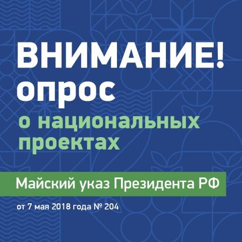 Опрос о национальных проектах