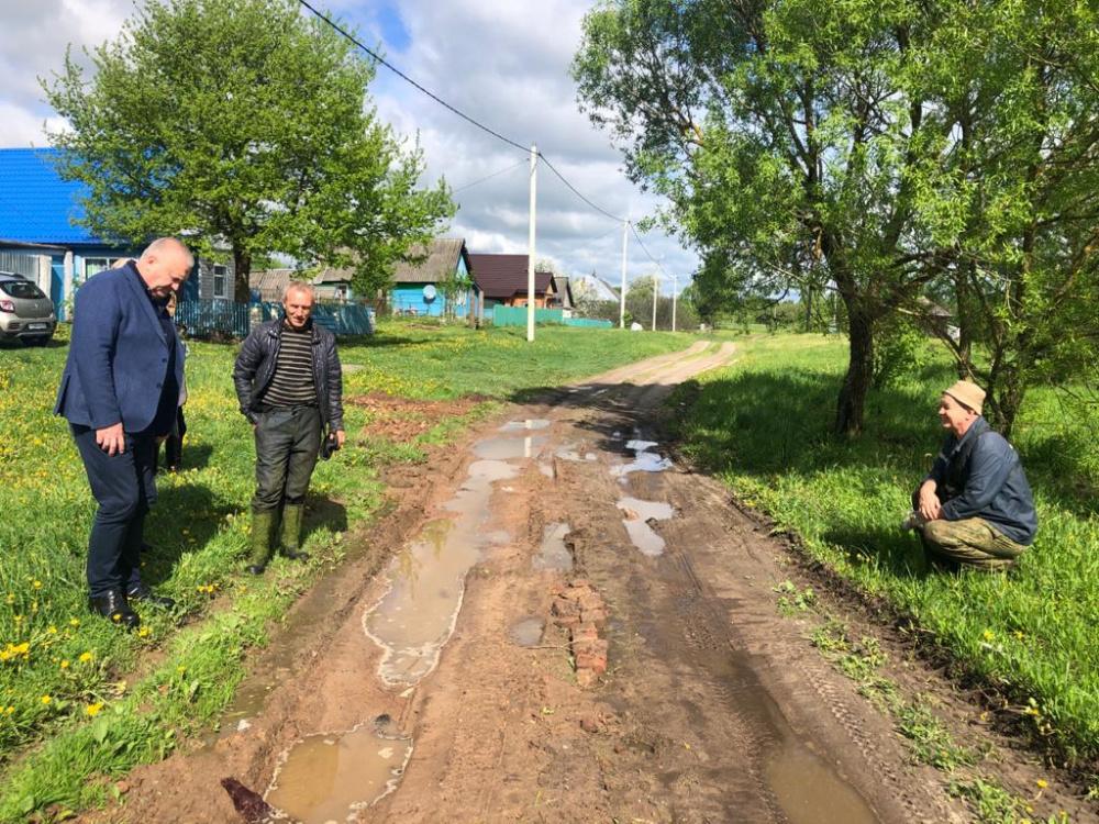 Рабочая встреча с депутатом и жителями д.Голосиловка. Обсуждали проблемы дорог