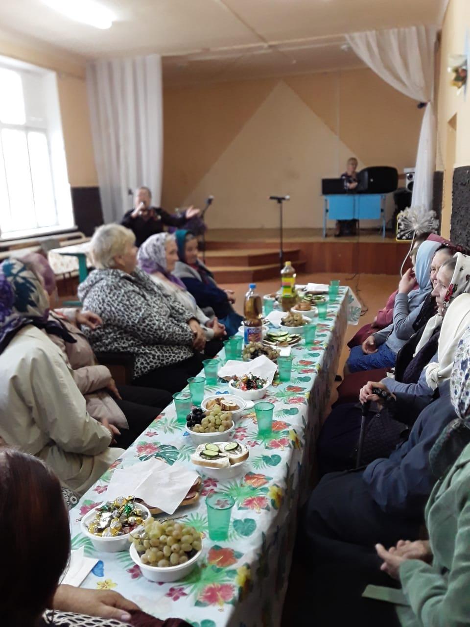 Празднование дня пожилых людей