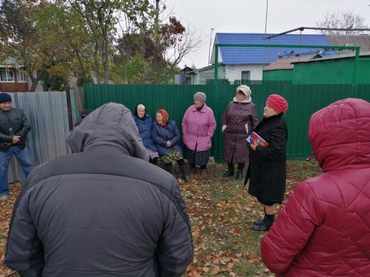 Встреча с жителями в д. Хомутовка
