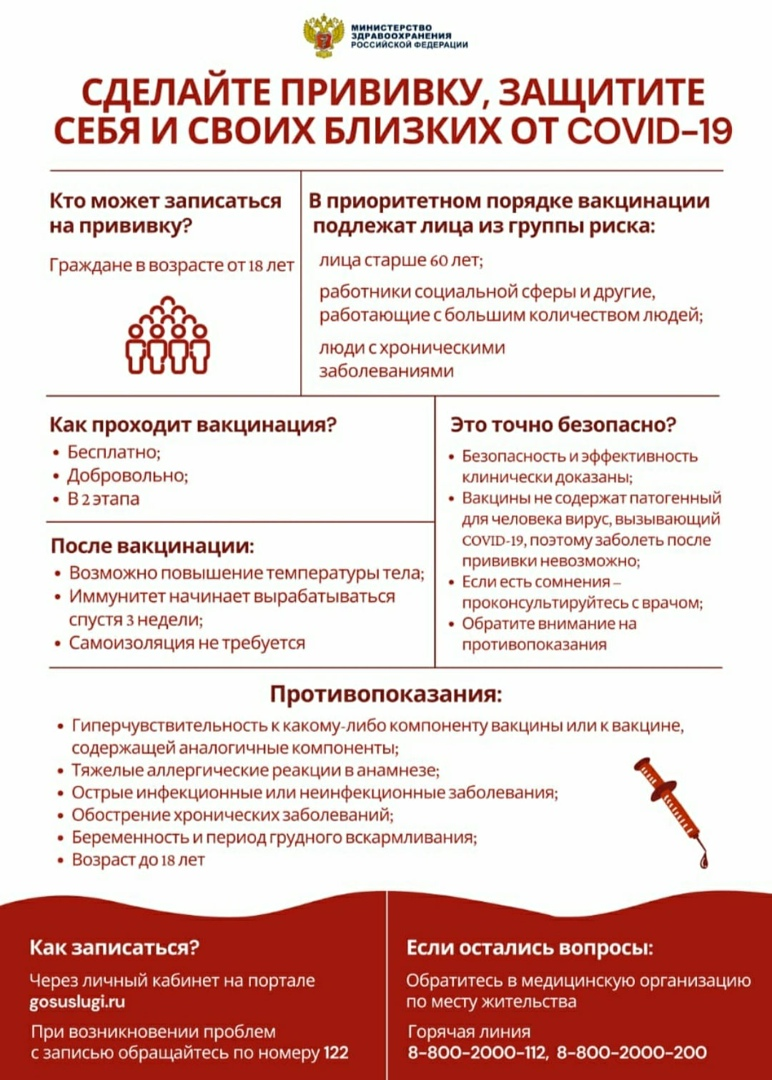 Сделай прививку,защити себя от COVID-19