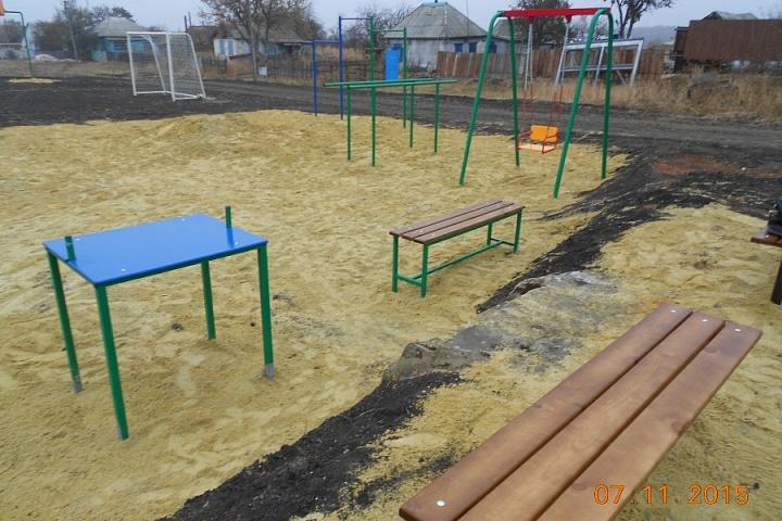 детская спортивная площадка в х. Пасеково
