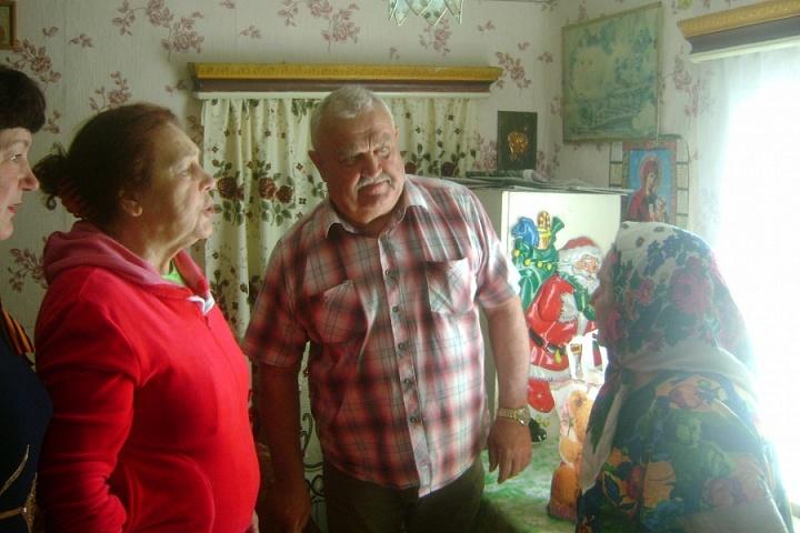 Поздравление участника ВОВ п.Охрозавод