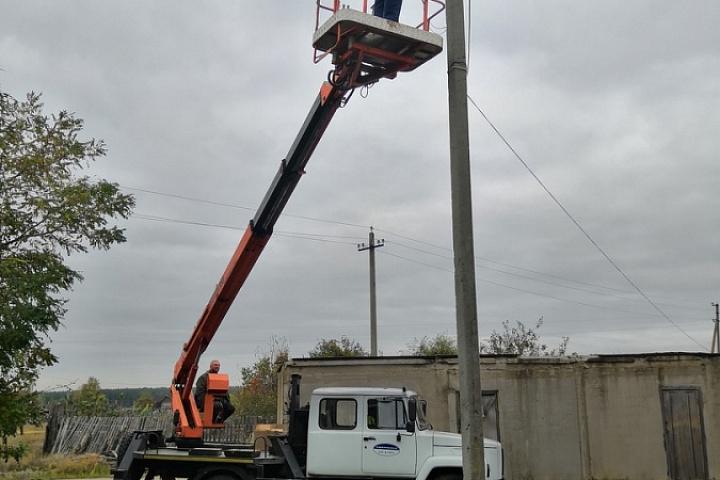 ремонт уличного освещения