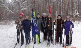 22.12.18 Директор Н.Е. Вагурина и уч-ки Кострома лыжная