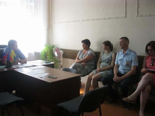 Заседание территориальной комиссии при главе Моревского сельского поселения Ейского района