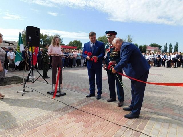 Открытие Аллеи Героев в городе Поворино