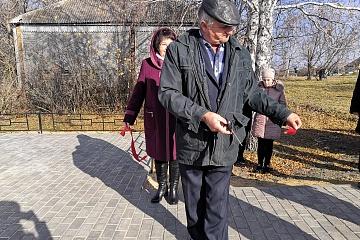 Открытие обновленного памятника на воинском захоронении в с. Орловка по ул. Заречная