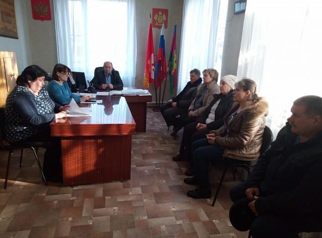 Заседание Совета Глебовского сельского поселения Кущевского района