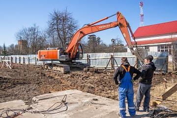 В поселке Мятлево завершился первый этап строительства физкультурно-культурного центра