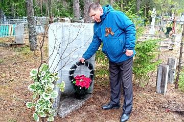 9 мая 2020 возложение цветов у Обелиска и на кладбища