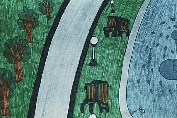 """Проведен конкурс детских рисунков """"Мое село родное"""" в рамках федеральной программы """"Формирование комфортной городской среды"""""""