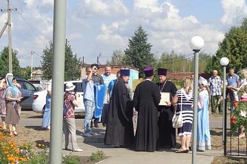 Открытие часовни Георгия Победоносца в поселке Нижнедевицк