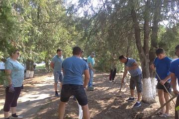 Сотрудники МЧС приняли участие во Всероссийском   субботнике «Зеленная Россия»