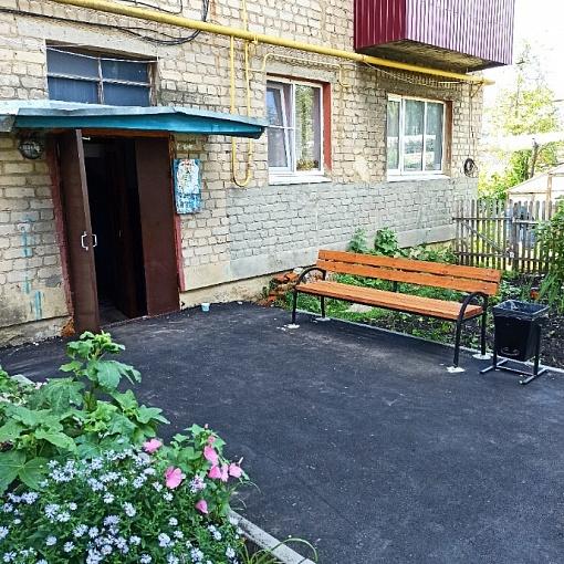 Результат благоустройства дворовой территории по адресу: ул. Ленина, д. 25