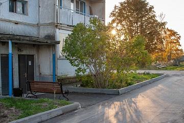 В поселке Мятлево благоустроена придомовая территория еще одного многоквартирного дома