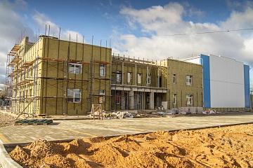 В поселке Мятлево продолжает активно вестись строительство ФКЦ