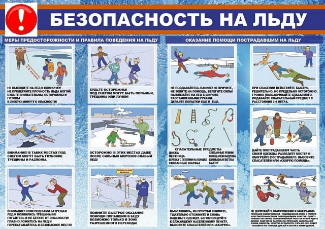 Правила поведения на льду для школьников