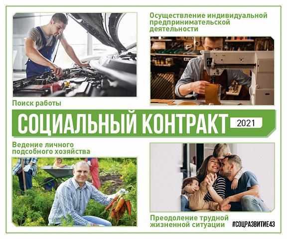 Информация о социальном контракте с изменениями