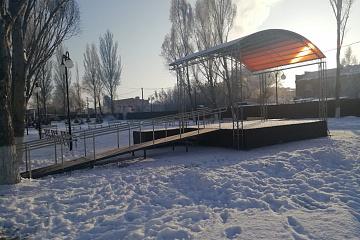 «Созвездие талантов» - становка уличной сцены на территории парковой зоны сельского дома культуры «Нива» в поселке Верхняя Подстепновка