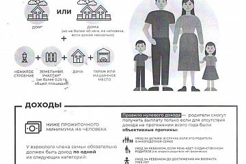 Пособия для малообеспеченных семей на детей от 3 до 7 лет включительно
