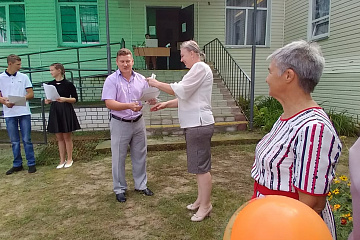 Тепикинская ШИ  торжественно поздравила своего нового ученика 1 класса
