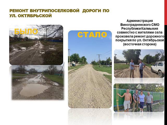 Ремонт дороги по ул. Октябрьская